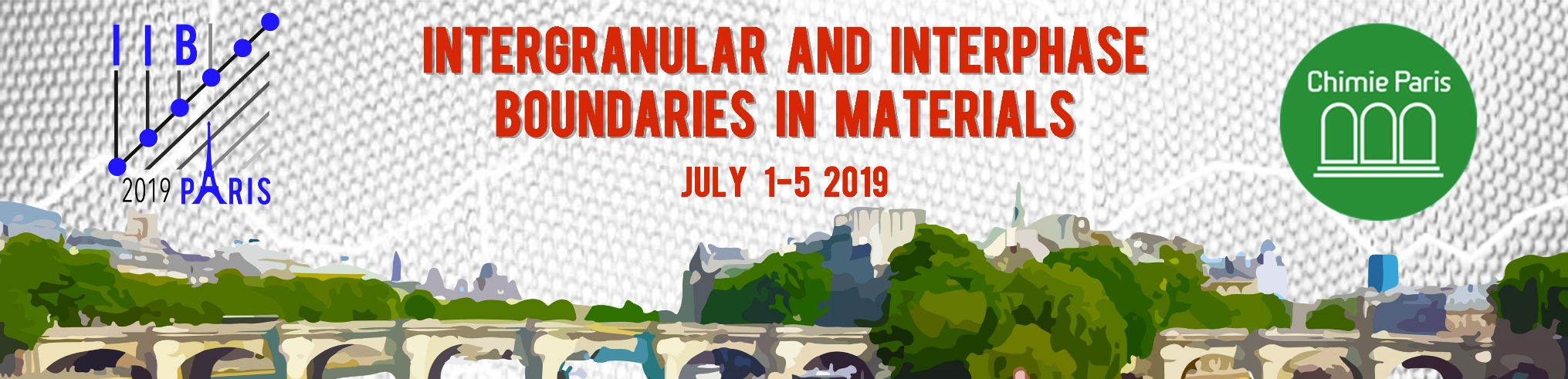 IIB2019: 16th International conference on Intergranular & Interphase Boundaries in Materials